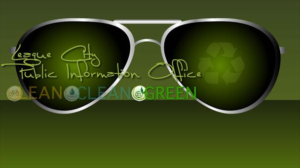 Photo of glasses with Lean.Clean.Green. on them.