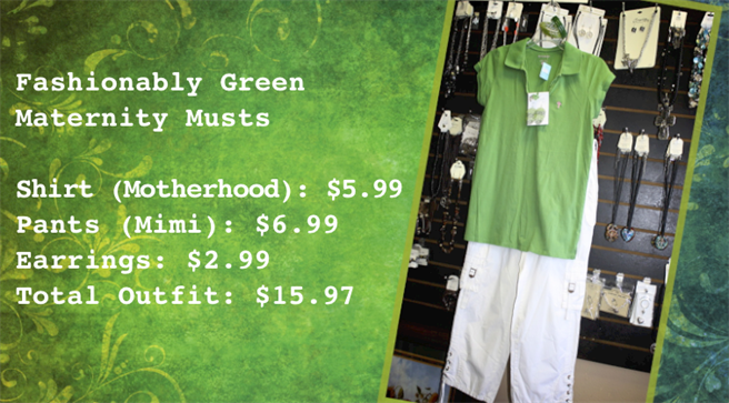 Photo of fashionably green maternity musts